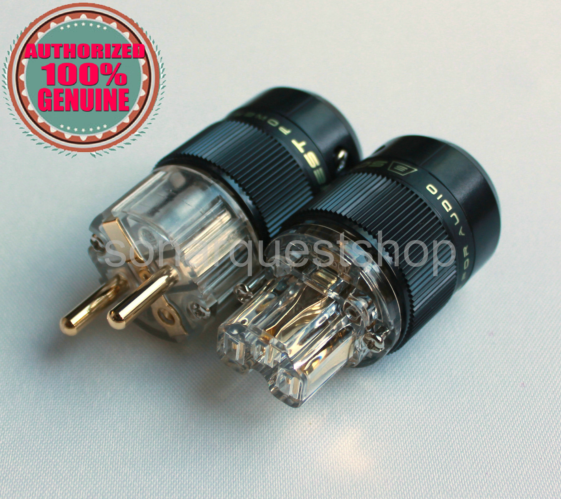 SONARQUEST SE-GE(T) + SE-GC(T) Gold Plated EU Power Plug & IEC