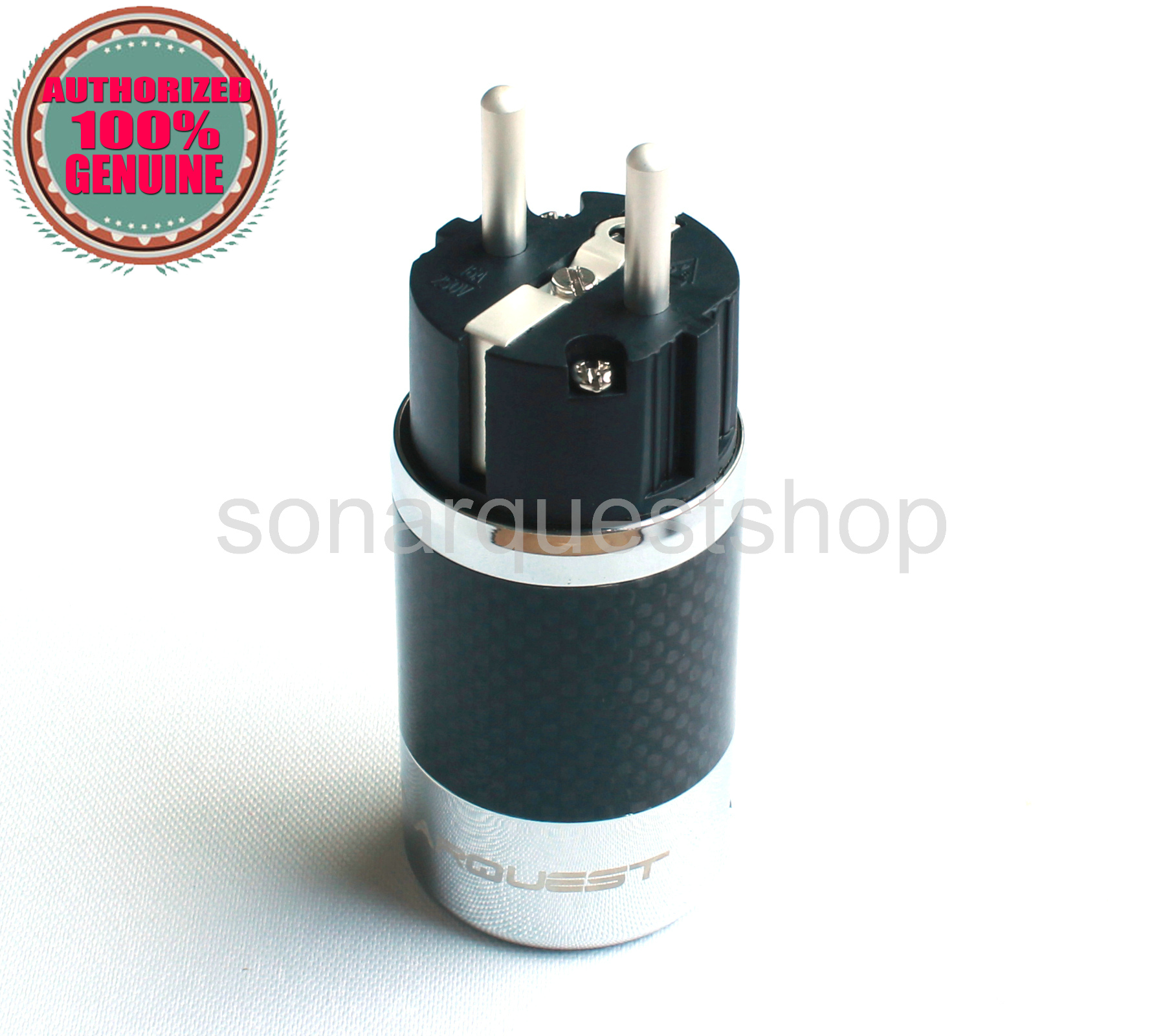 SONARQUEST SQ-E39(Ag)B EU silver Plated BK Carbon fiber Power Plug