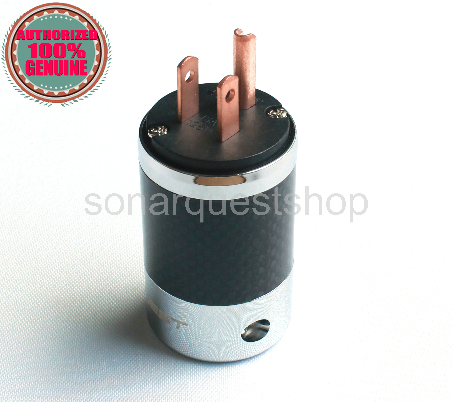 SONARQUEST SQ-P39(C)B US Red Copper BK Carbon fiber Power Plug