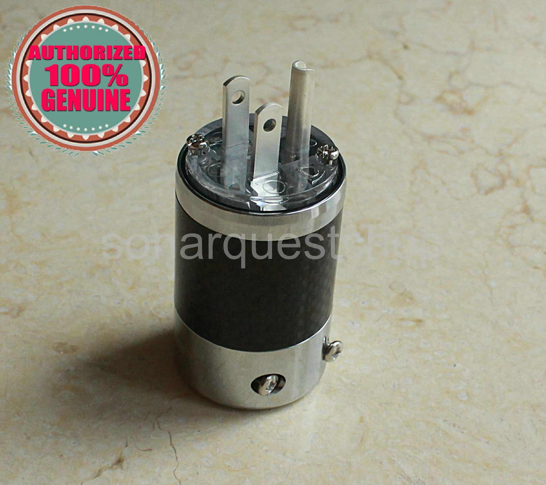 SONARQUEST SQ-P39(Ag)T US silver Plated UT Carbon fiber Power Plug