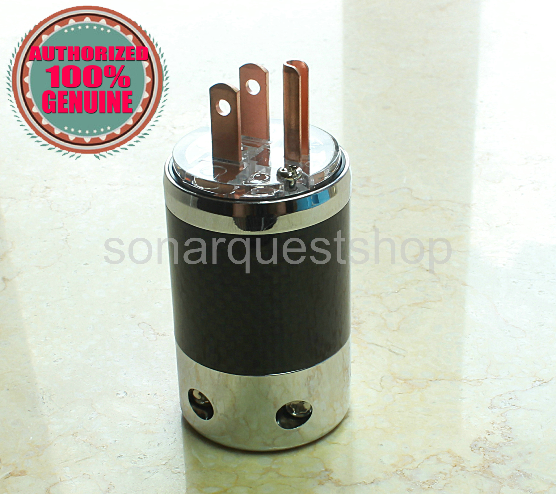 SONARQUEST SQ-P39(C)T US Red Copper UT Carbon fiber Power Plug