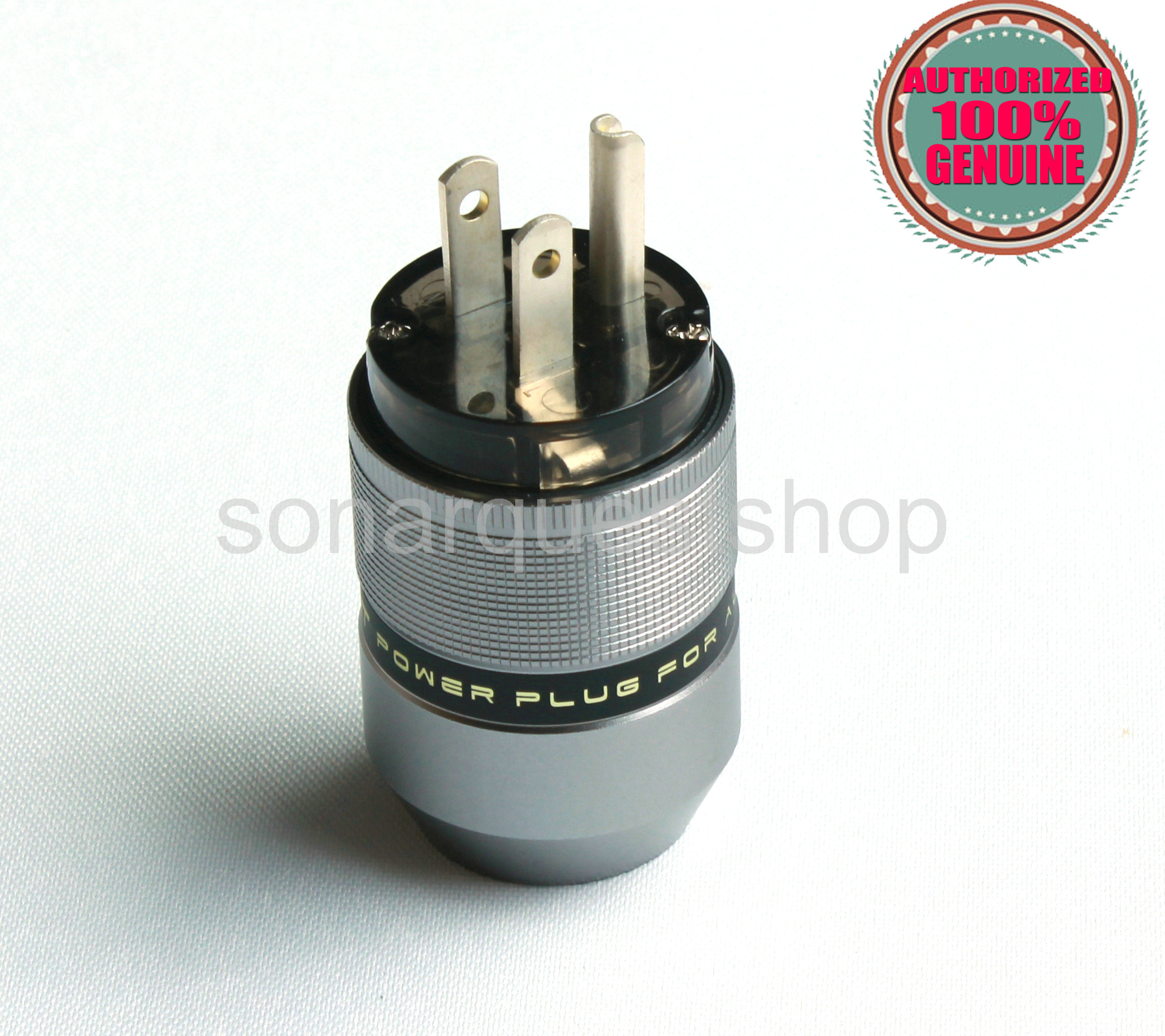 SONARQUEST PA-40M(Ag) US silver Plated Gray Special Aluminum alloy Power Plug