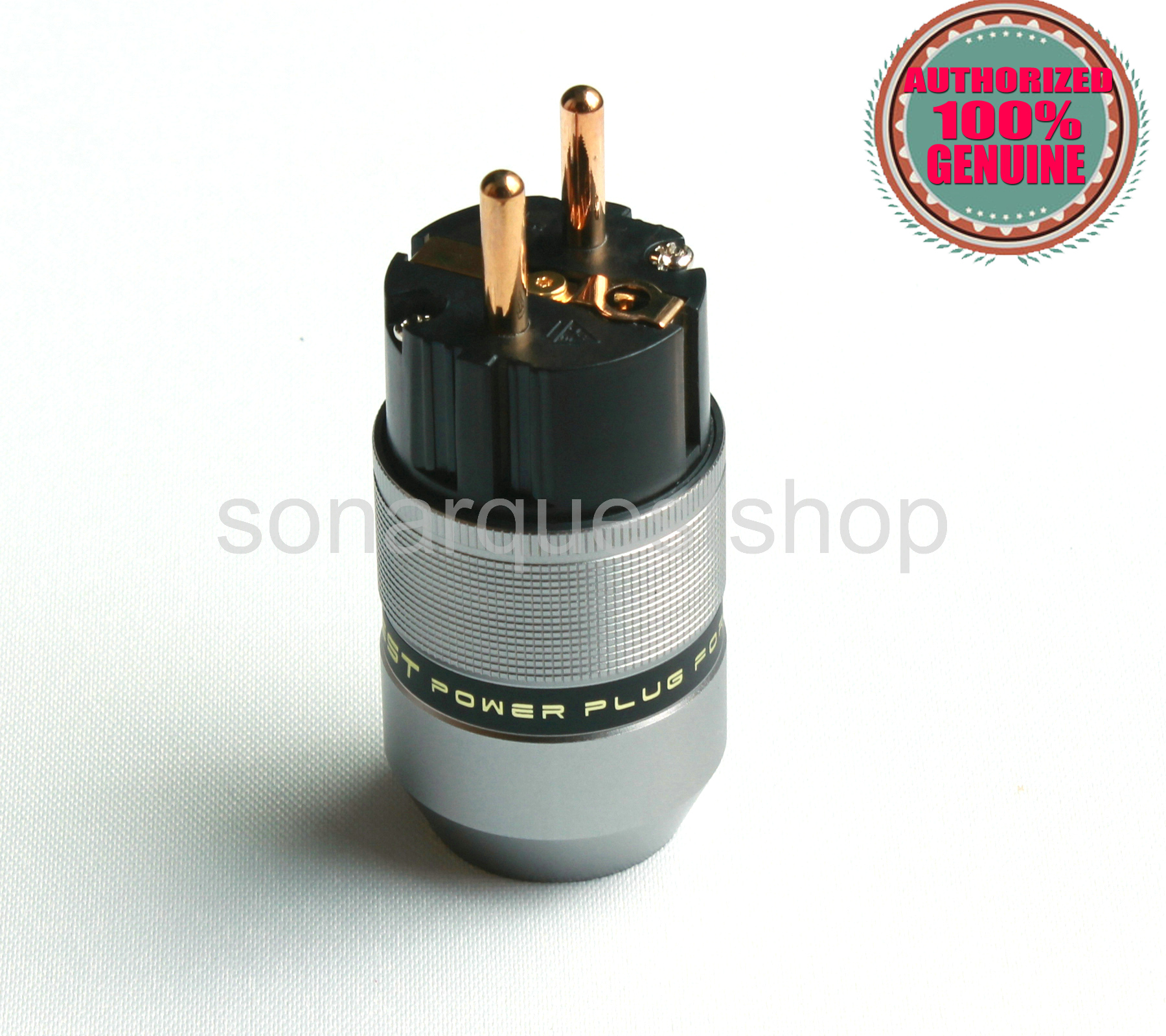 SONARQUEST PA-40E(G) EU Gold Plated Gray Special Aluminum alloy Power Plug