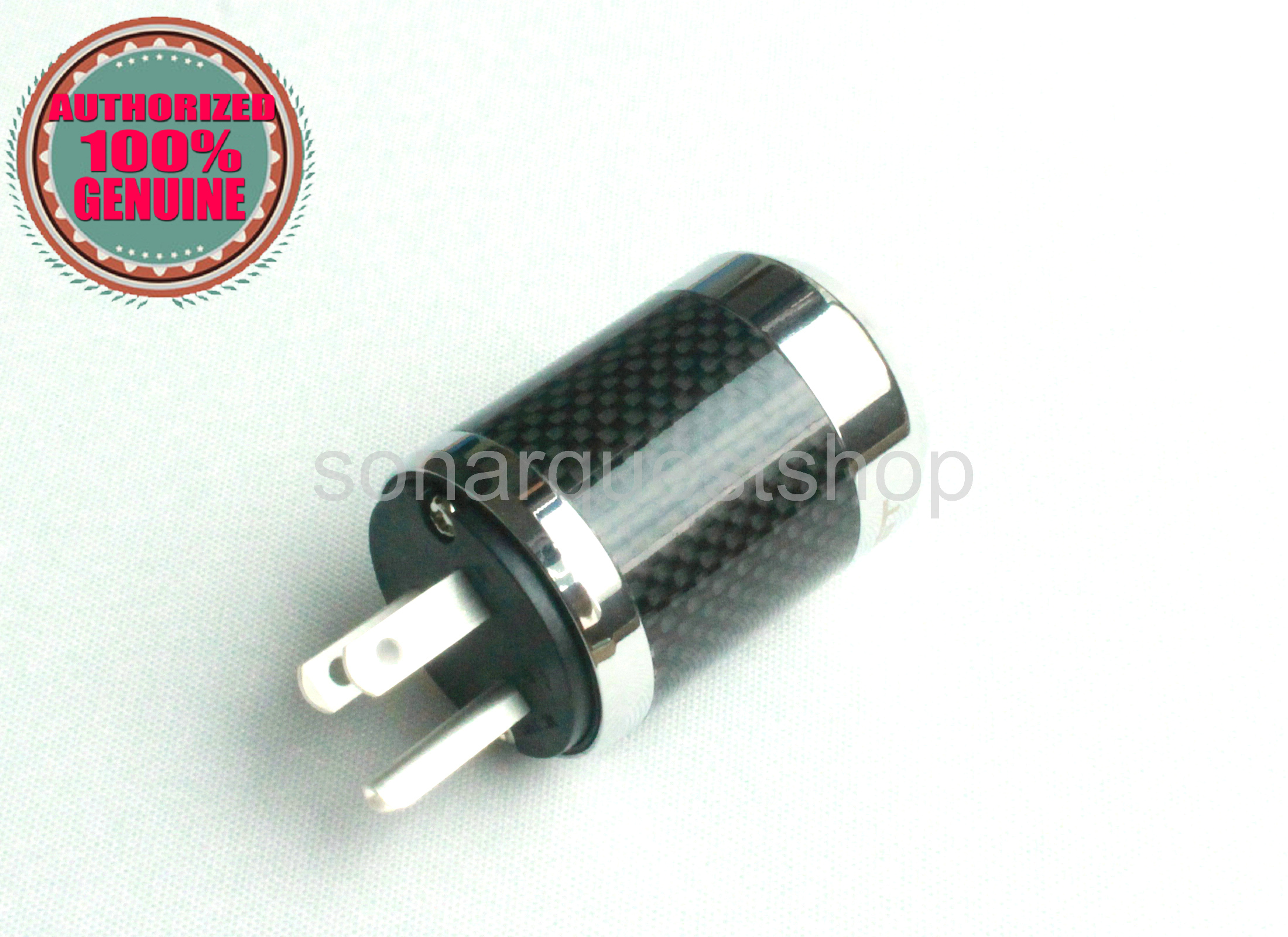 PYK SONARQUEST SQ-P39(Ag)B US silver Plated BK Carbon fiber Power Plug
