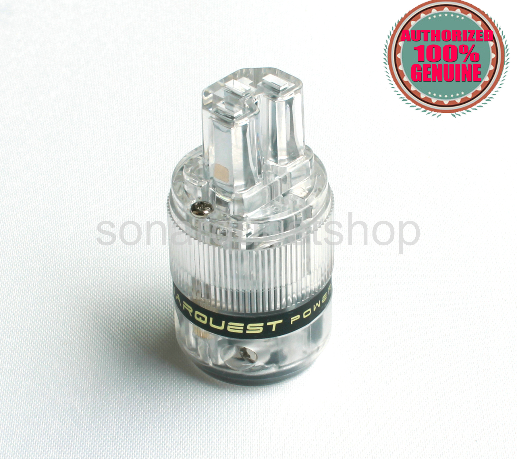 SONARQUEST ST-PC(T) Platinum Plated IEC Connector ALL Transparent