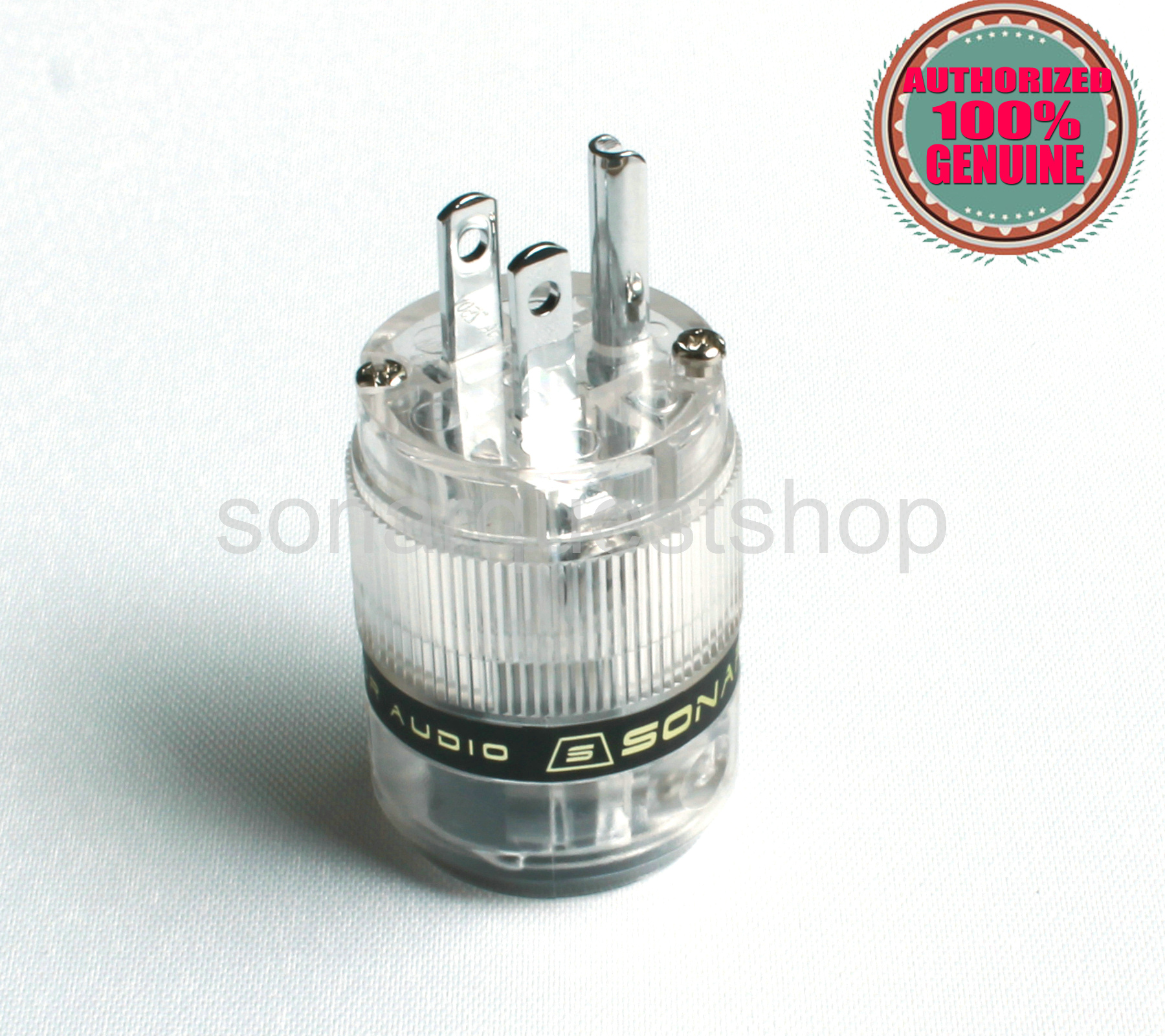 SONARQUEST ST-PP(T) Platinum Plated US ALL Transparent Power Plug