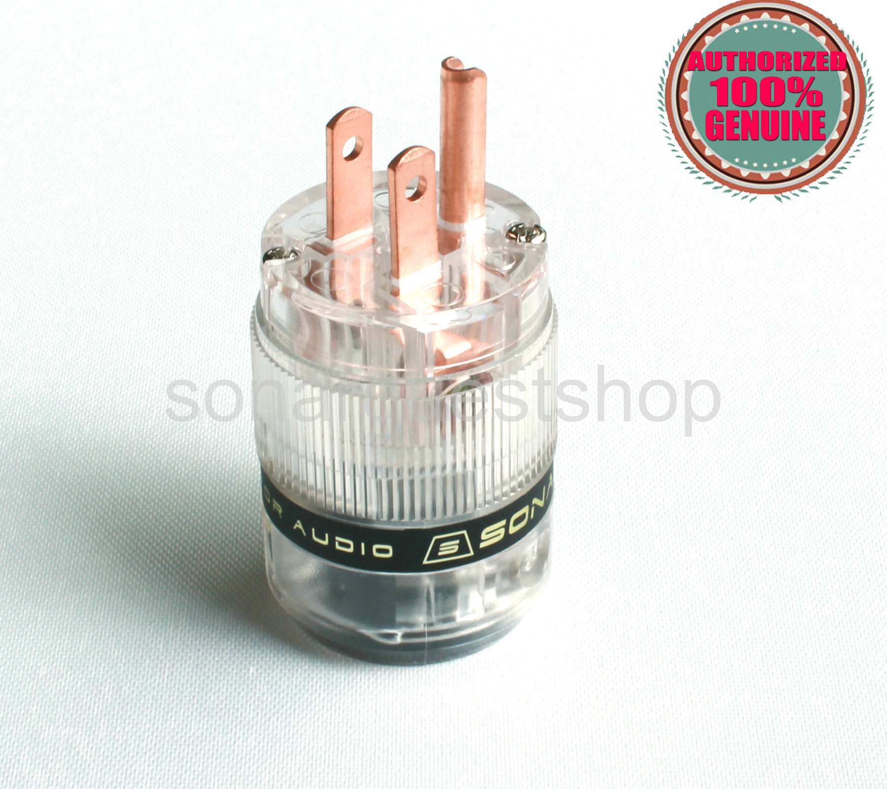 SONARQUEST ST-RP(T) Red Copper ALL Transparent Power Plug