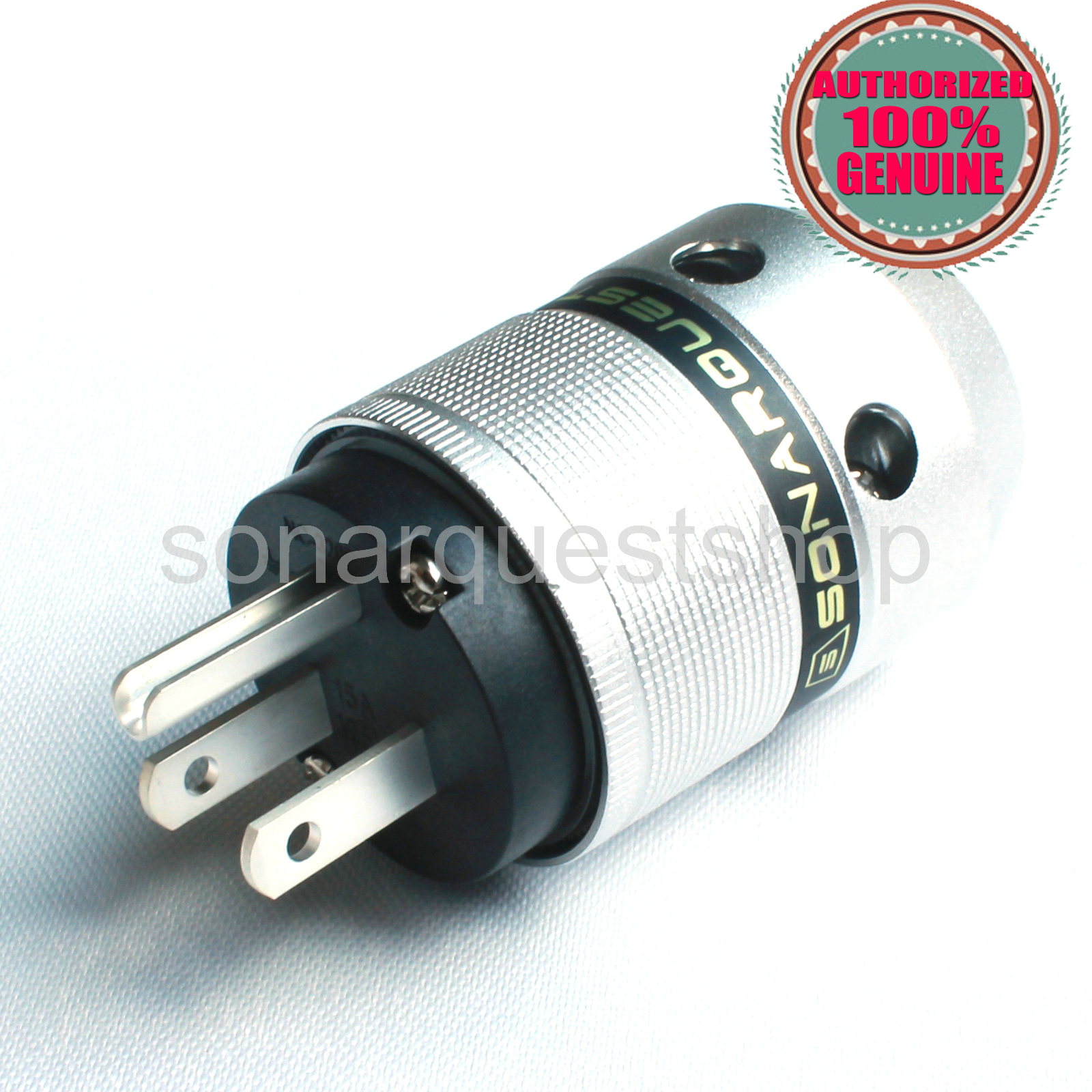 SONARQUEST P25 Ag(B) US silver Plated UP Black Aluminum alloy Power Plug